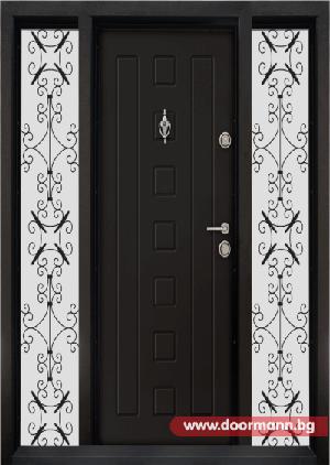 Еднокрила входна врата Т-712- цвят Африка